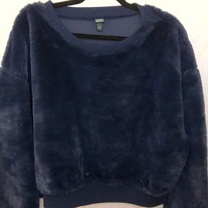 Blue fuzzy wild fable crewneck
